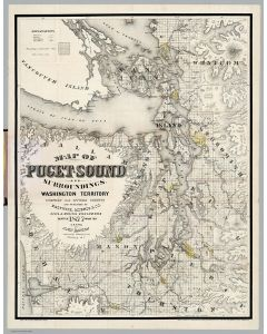 Map of Puget Sound And Surroundings, Washington Territory, 1877