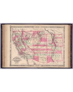 California, With Territories of UT, NV, CO, NM And AZ, 1864