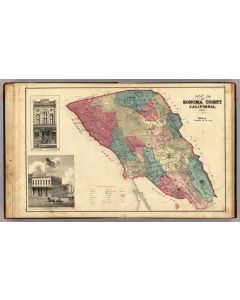 Map of Sonoma County California, 1877