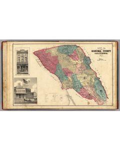 Map of Sonoma County California, 1877