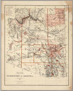 Territory Of Arizona. 1883