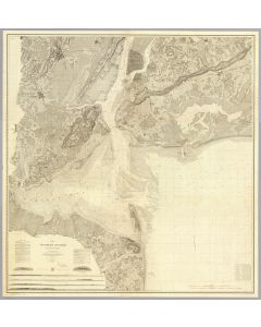 Map of New-York Bay And Harbor And The Environs, 1844