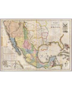 Mapa de los Estados Unidos De Mejico, 1847