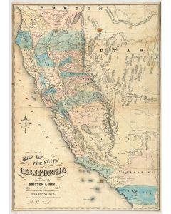 Map of the State of California, 1853