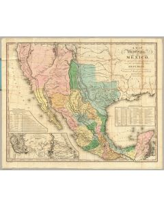 Map Of The United States Of Mexico, 1846