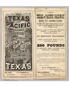 Texas & Pacific Railway, 1878