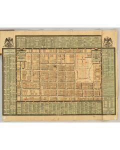 Plano del perimetro central, directorio comerical de la Ciudad de Mexico, 1883