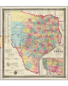 Map Of The State Of Texas, 1856