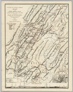 Map Of The Warm Springs Valley, 1903