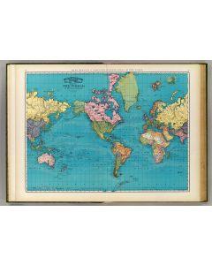 World, Mercator's projection, 1897