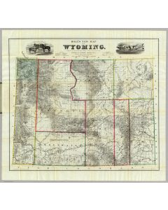 Holt's New Map Of Wyoming, 1885