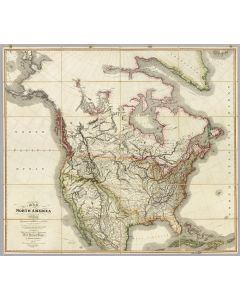 Map of North America, 1823