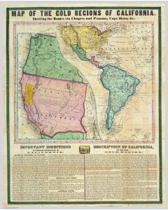Map of the Gold Regions of California, 1849