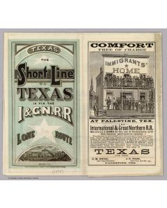 Texas, I & GN. RR. Lone Star Route, 1878