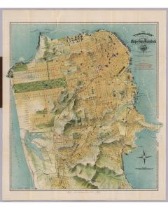 "The ""Chevalier"" Commercial, Pictorial and Tourist Map of San Francisco, 1915"