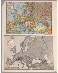Europe 1914-1935 & Relief map of Europe