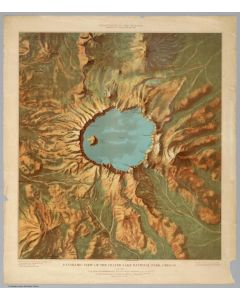 Panoramic View of the Crater Lake National Park, 1915