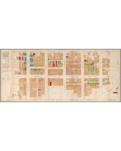Official Map of Chinatown in San Francisco, 1885