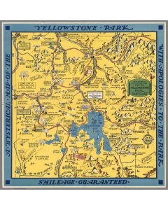 A Hysterical Map of the Yellowstone Park with Apologies to the Park, 1936
