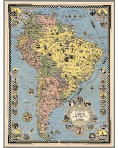 Moore-McCormack Lines Pictorial Map of South America, 1942