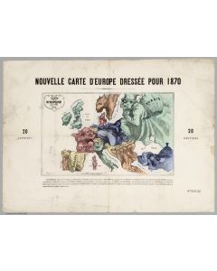 Carte drolatique d'Europe pour, 1870