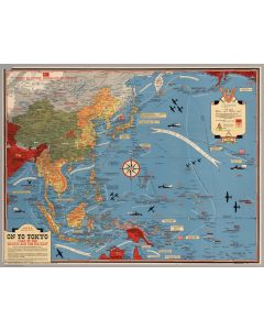Map of the Pacific and the Far East, 1944