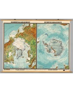 Polar Regions -- Physical-Political, 1960