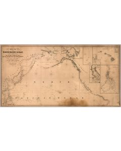 Chart of the North Pacific Ocean, 1849