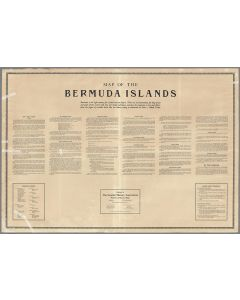 (Text Page) Map of the Bermuda Islands. 1930