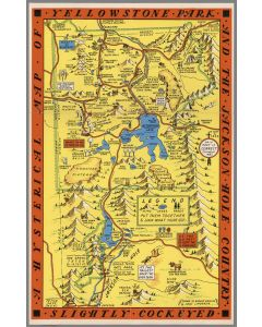 A Hysterical Map Of The Yellowstone Park And The Jackson Hole Country, 1936