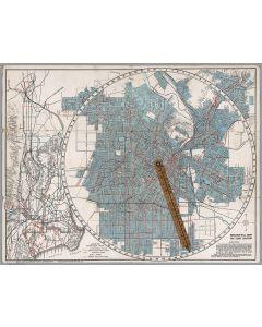 E-Z guide map of Los Angeles, California, 1915