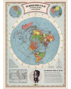 CBS American School of the Air, Air Age Map of the World, A Polar Projection, 1943