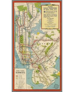 New York subways. Hagstrom Company, Inc., 1951